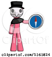 May 23rd, 2018: Pink Plague Doctor Man Holding A Large Compass by Leo Blanchette