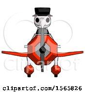 Pink Plague Doctor Man In Geebee Stunt Plane Front View