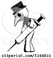 May 23rd, 2018: Ink Plague Doctor Man Using Syringe Giving Injection by Leo Blanchette