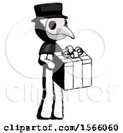 Ink Plague Doctor Man Giving A Present