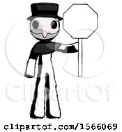 May 23rd, 2018: Ink Plague Doctor Man Holding Stop Sign by Leo Blanchette
