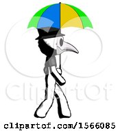 May 23rd, 2018: Ink Plague Doctor Man Walking With Colored Umbrella by Leo Blanchette