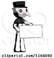 Ink Plague Doctor Man Presenting Large Envelope