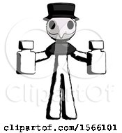 May 23rd, 2018: Ink Plague Doctor Man Holding Two Medicine Bottles by Leo Blanchette