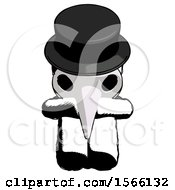 May 23rd, 2018: Ink Plague Doctor Man Sitting With Head Down Facing Forward by Leo Blanchette