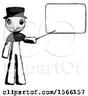 Ink Plague Doctor Man Giving Presentation In Front Of Dry Erase Board