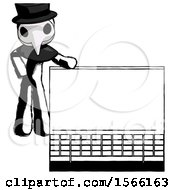 May 23rd, 2018: Ink Plague Doctor Man Beside Large Laptop Computer Leaning Against It by Leo Blanchette