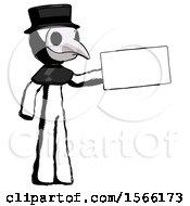 Ink Plague Doctor Man Holding Large Envelope