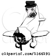Ink Plague Doctor Man In Geebee Stunt Plane Descending Front Angle View