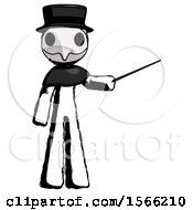 Ink Plague Doctor Man Teacher Or Conductor With Stick Or Baton Directing