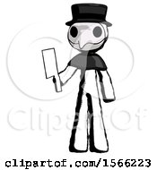 Ink Plague Doctor Man Holding Meat Cleaver