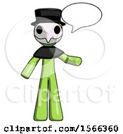 May 24th, 2018: Green Plague Doctor Man With Word Bubble Talking Chat Icon by Leo Blanchette