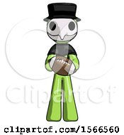 Green Plague Doctor Man Giving Football To You