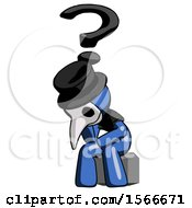 May 24th, 2018: Blue Plague Doctor Man Thinker Question Mark Concept by Leo Blanchette