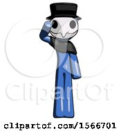 May 24th, 2018: Blue Plague Doctor Man Soldier Salute Pose by Leo Blanchette