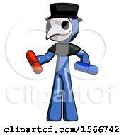 Blue Plague Doctor Man Red Pill Or Blue Pill Concept