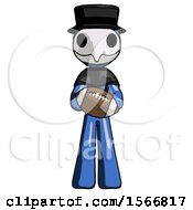 Blue Plague Doctor Man Giving Football To You