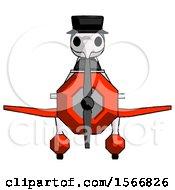Blue Plague Doctor Man In Geebee Stunt Plane Front View
