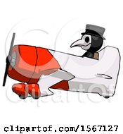 Black Plague Doctor Man In Geebee Stunt Aircraft Side View