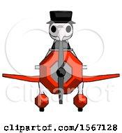 Black Plague Doctor Man In Geebee Stunt Plane Front View