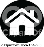 Black And White Home Address Icon