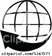 Black And White World Wide Web Icon