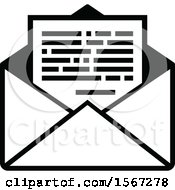 Black And White Mail Icon