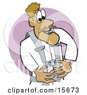 Male Pilot Or Astronaut Wearing A Safety Uniform Clipart Illustration