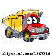 Poster, Art Print Of Cartoon Dump Truck Mascot Character