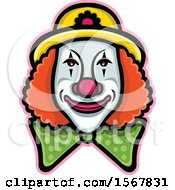 Clipart Of A Circus Clown Face Royalty Free Vector Illustration