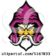 Clipart Of A Warlock Head With A Hood Royalty Free Vector Illustration by patrimonio