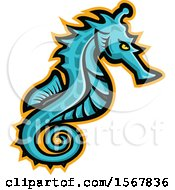Clipart Of A Tough BLANK Animal Mascot Royalty Free Vector Illustration