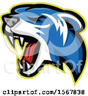 Clipart Of A Tough Polecat Animal Mascot Royalty Free Vector Illustration
