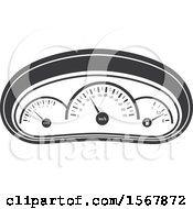 Clipart Of A Car Gauges Automotive Icon Royalty Free Vector Illustration