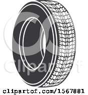 Clipart Of A Car Tire Automotive Icon Royalty Free Vector Illustration by Vector Tradition SM