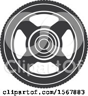 Clipart Of A Car Tire Automotive Icon Royalty Free Vector Illustration