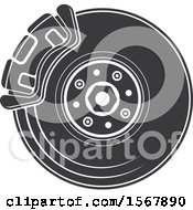 Clipart Of A Tire Automotive Icon Royalty Free Vector Illustration by Vector Tradition SM