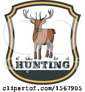 Clipart Of A Deer Hunting Design Royalty Free Vector Illustration