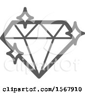 Grayscale Casino Diamond Playing Card Suit Icon
