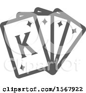 Grayscale Casino Playing Cards Icon