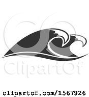 Grayscale Splash Ocean Surf Wave Water Design