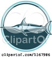 Clipart Of A Blue Marlin Royalty Free Vector Illustration