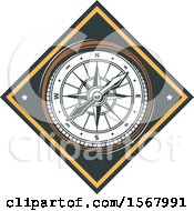 Clipart Of A Compass Design Royalty Free Vector Illustration by Vector Tradition SM