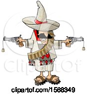 Mexican Bandito Holding Two Cork Guns