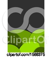 Clipart Of A Green Bubble Layout Template Background Royalty Free Vector Illustration