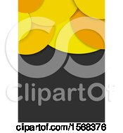 Clipart Of A Yellow Bubble Layout Template Background Royalty Free Vector Illustration