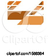 Clipart Of A Geometric Orange Layout Template Background Royalty Free Vector Illustration