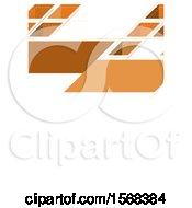 Geometric Orange Layout Template Background