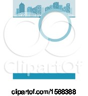 Clipart Of A Blue Urban Layout Template Background Royalty Free Vector Illustration
