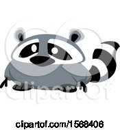 Clipart Of A Cute Fat Raccoon Royalty Free Vector Illustration by yayayoyo